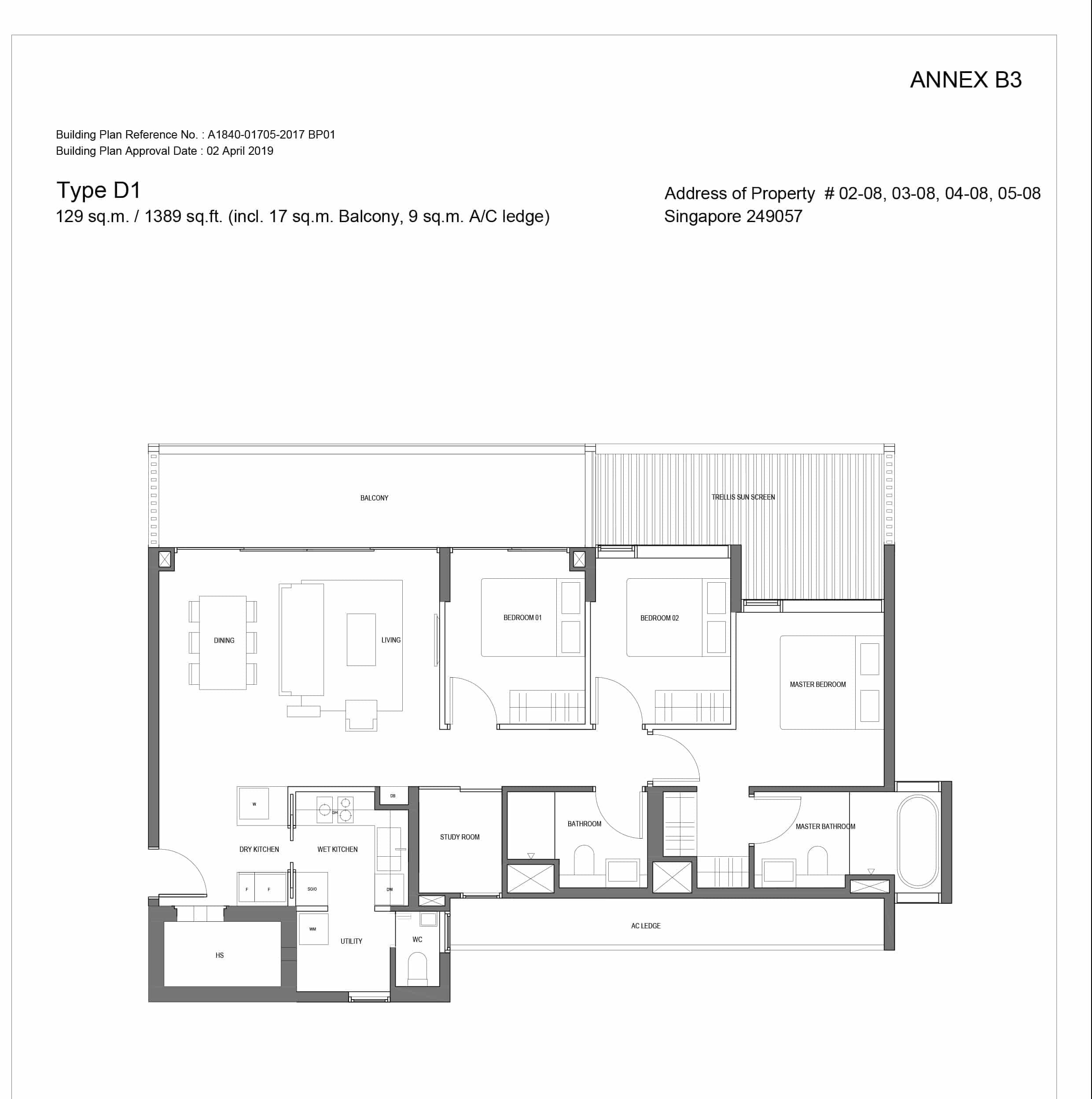 Jervois Prive Condo Floorplan
